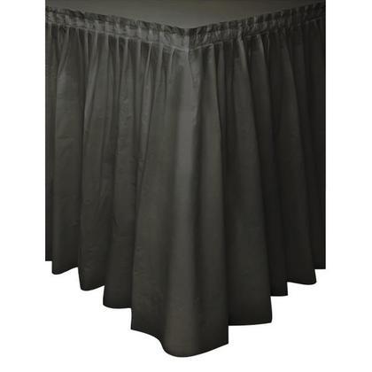 Jupe de table en plastique couleur unie noire 29