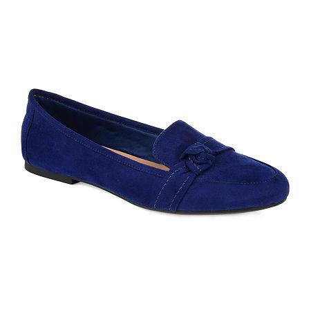 Journee Collection Womens Marci Slip-on Round Toe Loafers, 11 Medium, Blue