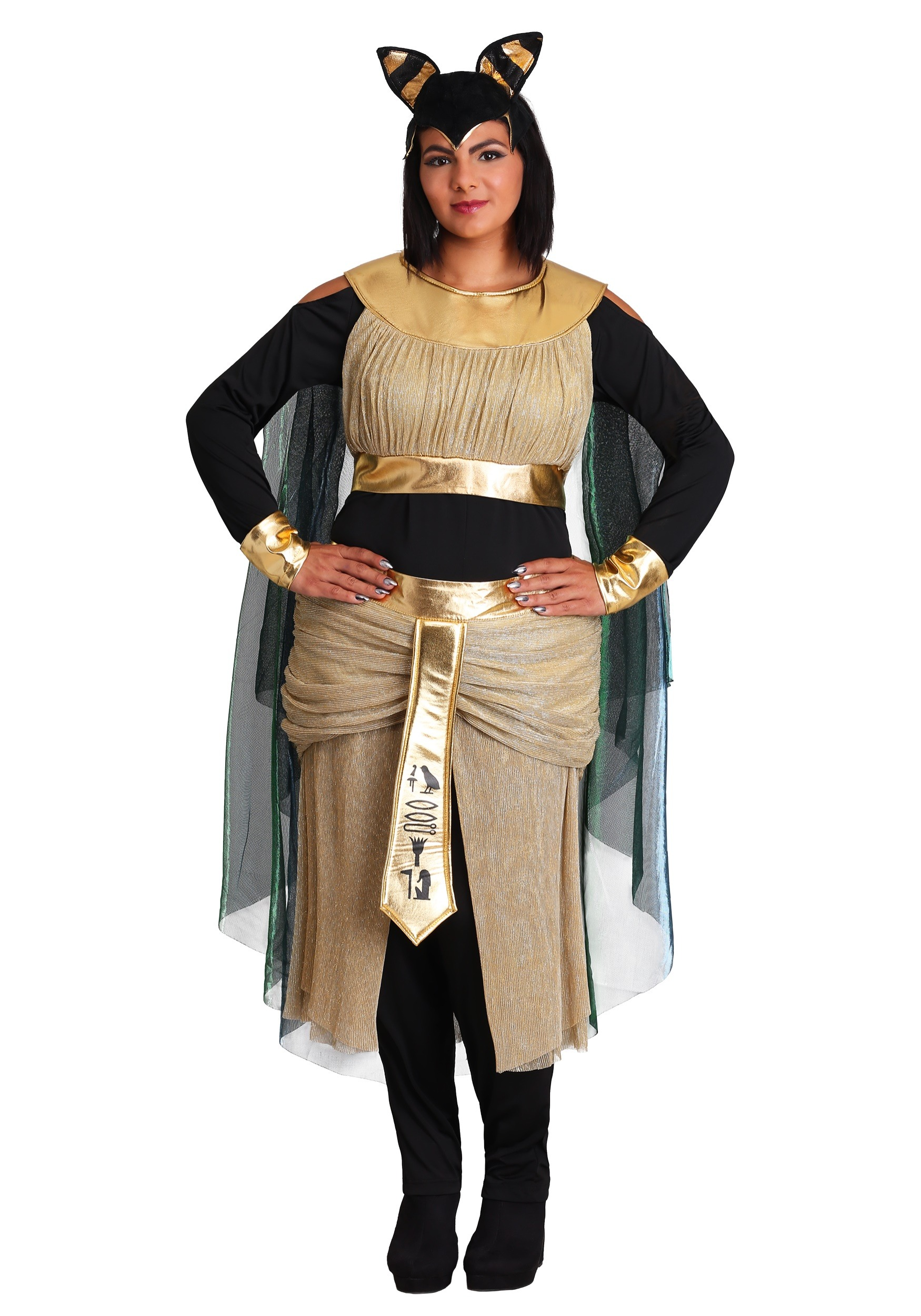 Women's Bastet Goddess Plus Size Costume