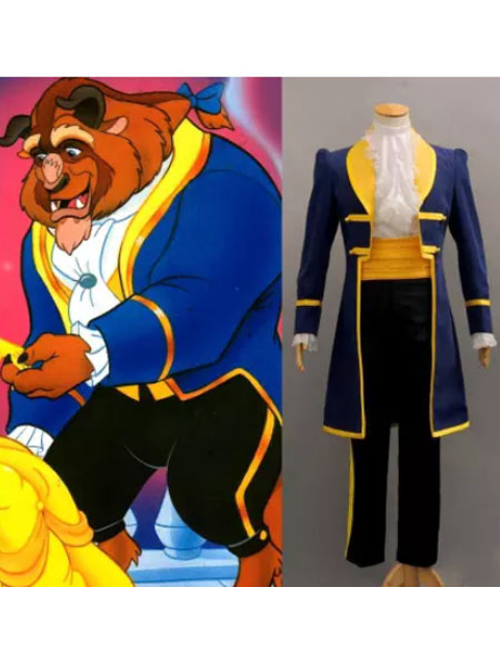 Milanoo Beauty And The Beast Prince Cosplay Costume Halloween
