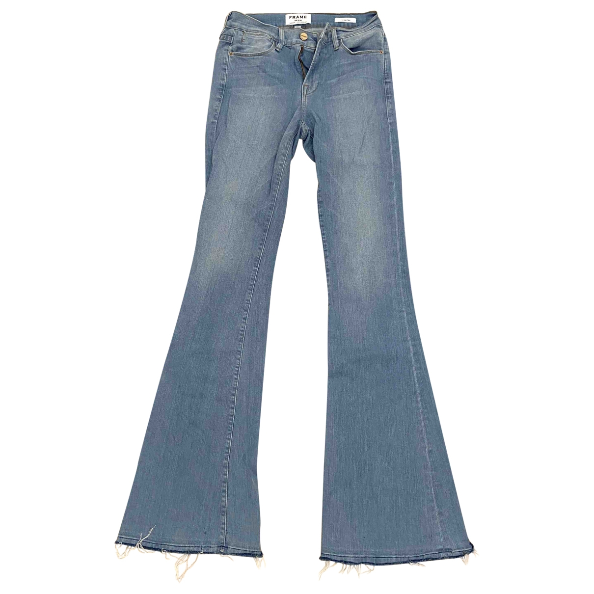 Frame Denim \N Blue Cotton - elasthane Jeans for Women 26 US