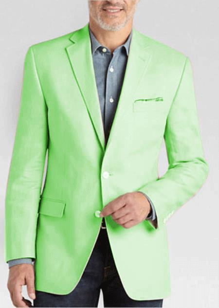 Mens 2 Button Linen Classic Fit Sport Coat Tan Summer Blazer