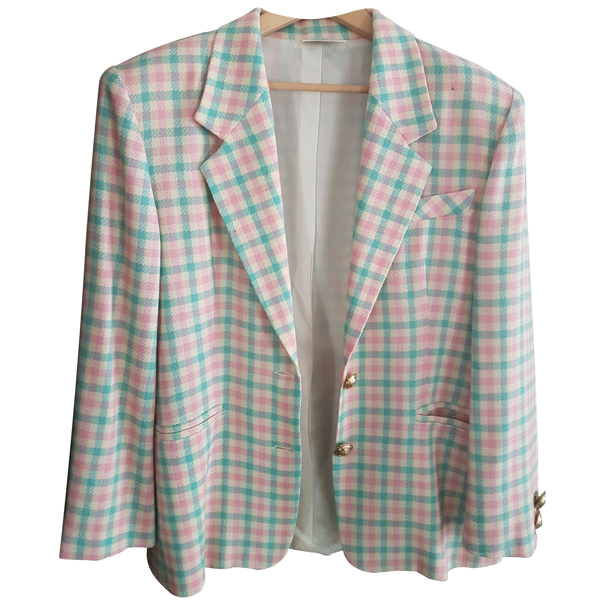Non Signé / Unsigned \N Multicolour Wool jacket for Women 50-52 IT