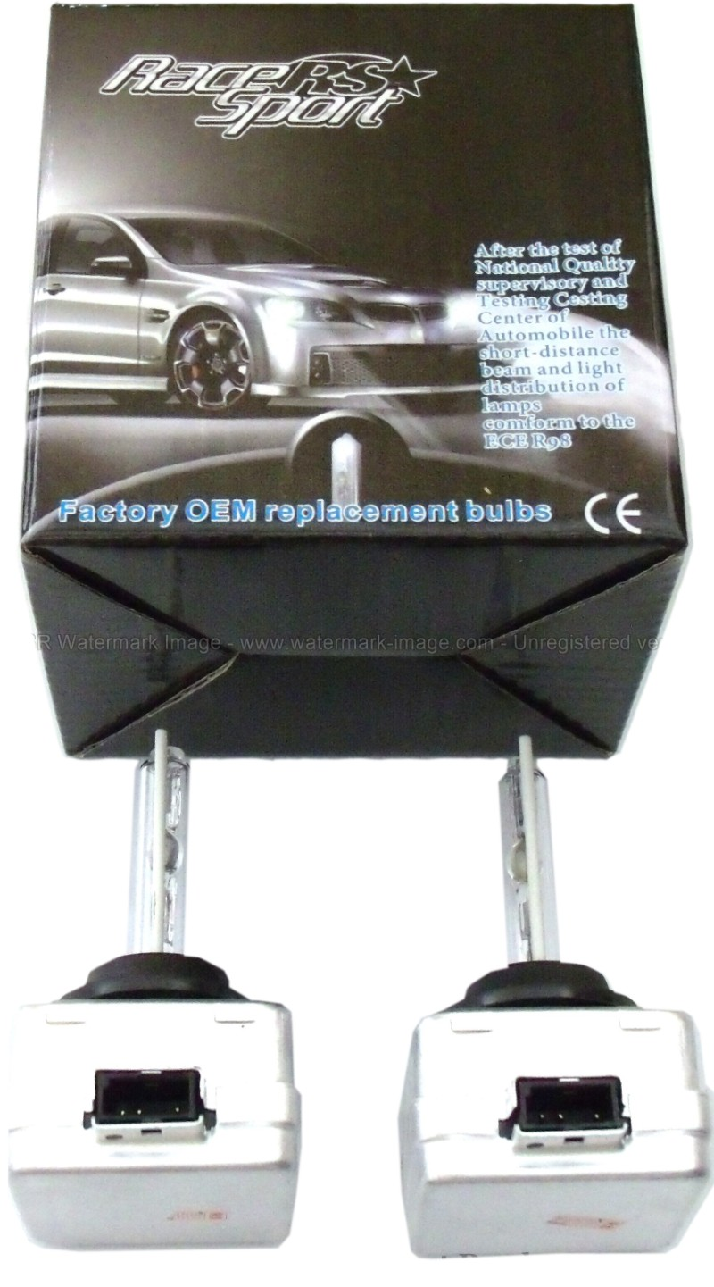 Race Sport Lighting D1-30K-SB-RB D1 30K OEM Factory HID Replacement Bulbs