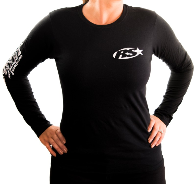 Race Sport Lighting RS055BS Black Ladies Soft Style Long Sleeve Small