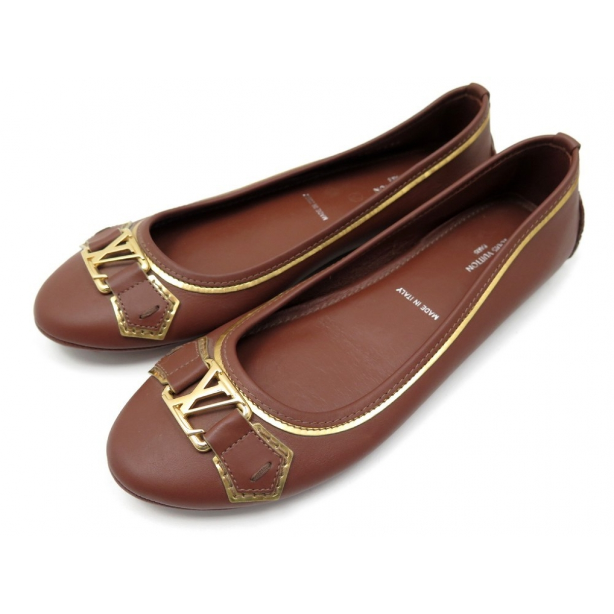 Louis Vuitton \N Brown Leather Ballet flats for Women 37 EU