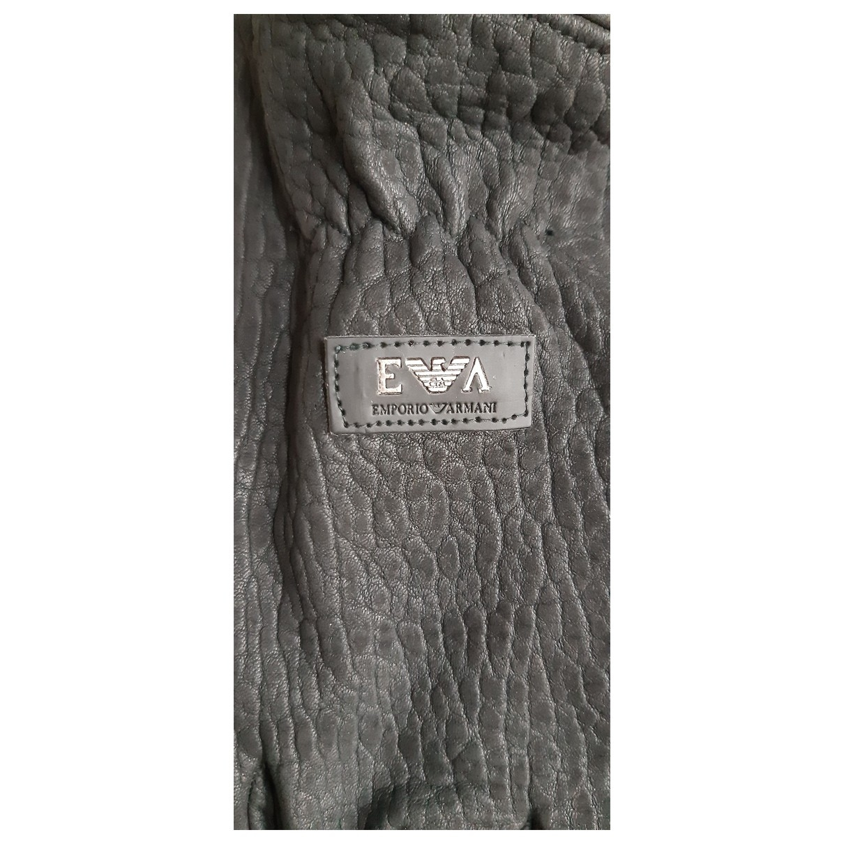 Emporio Armani \N Black Fur Gloves for Men XL International