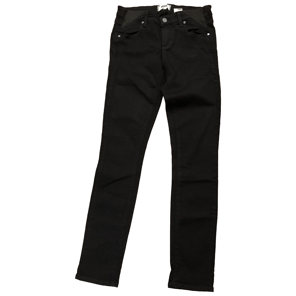 Paige Jeans \N Black Cotton Trousers for Women 4 US