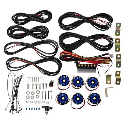 KC HiLites Cyclone LED 6-Light Universal Rock Light Kit (Blue) - 91039