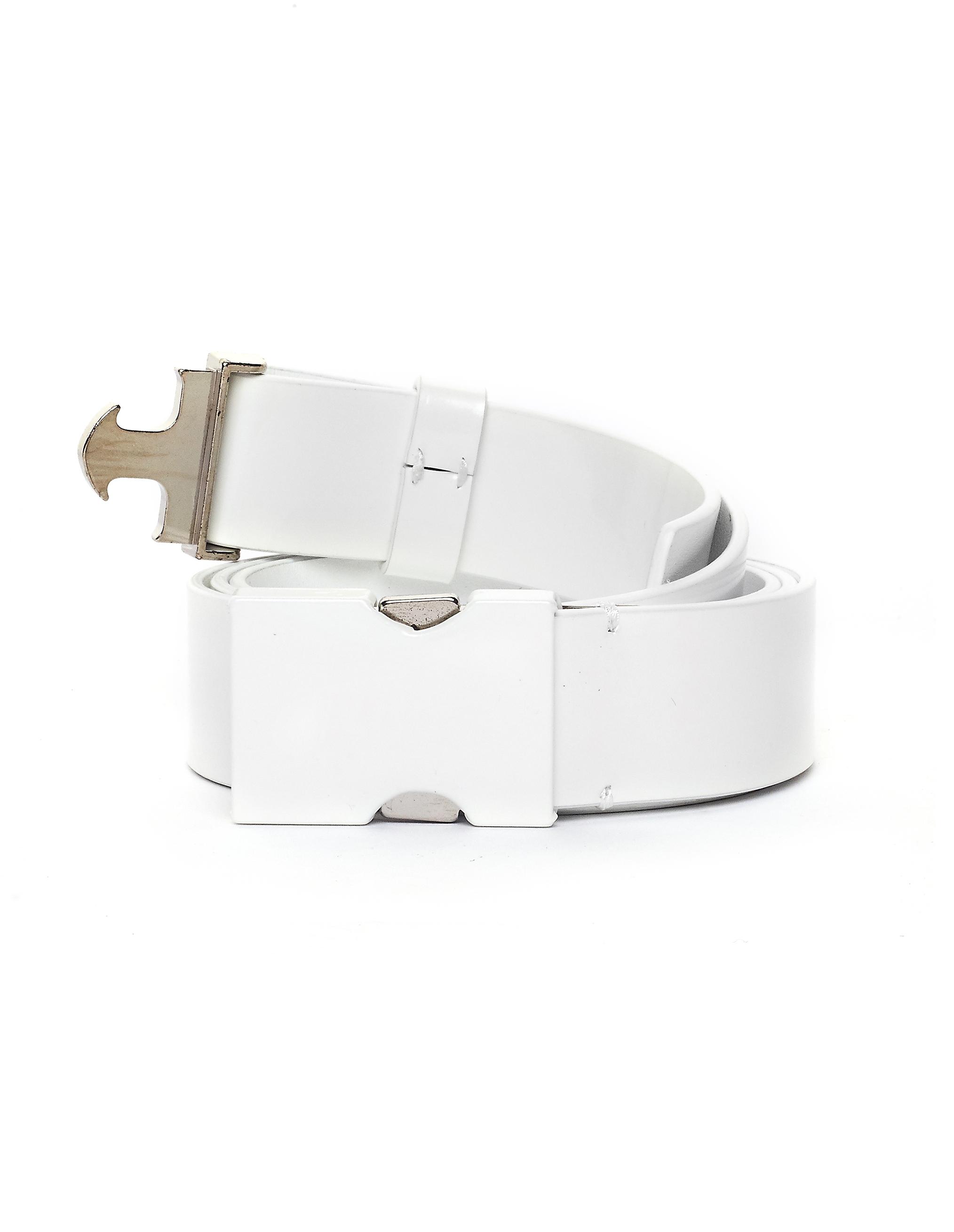 Maison Margiela White Leather Belt