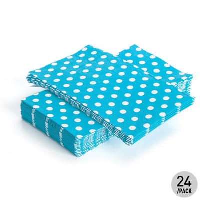 Serviette de table pour invité Polka Dot Paper 33 * 40CM 3Ply Teal 24Pcs - Living Basics ™