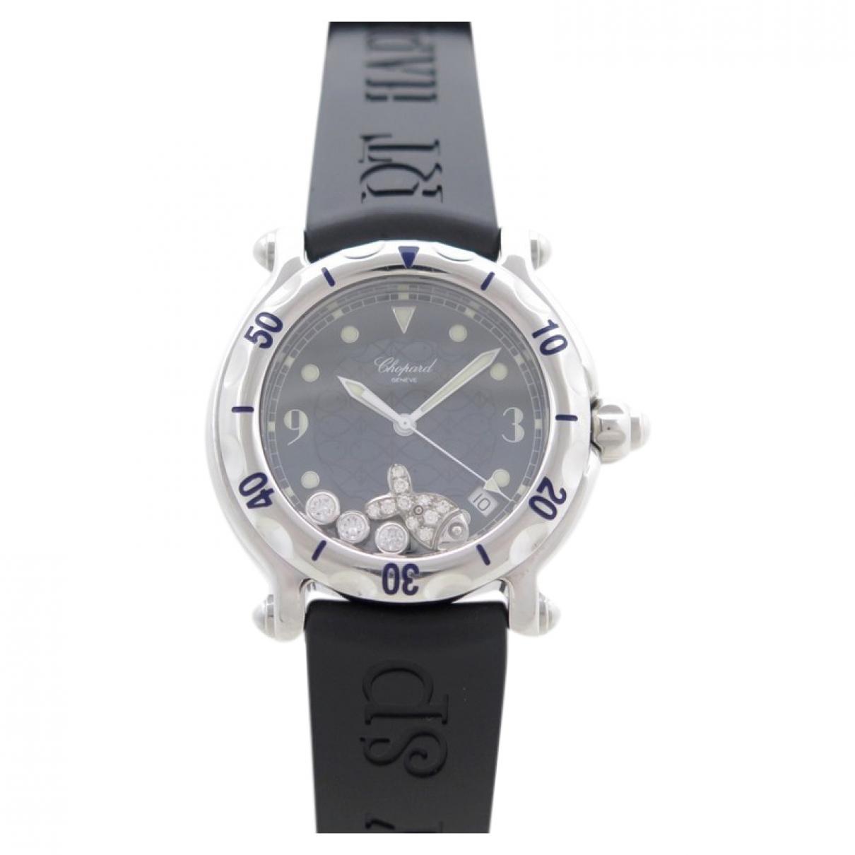 Chopard Happy Sport Black Steel watch for Women \N