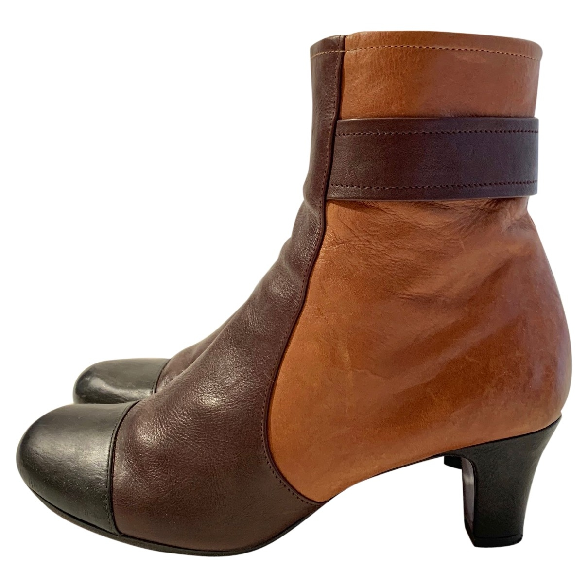 Chie Mihara \N Brown Leather Ankle boots for Women 39 EU