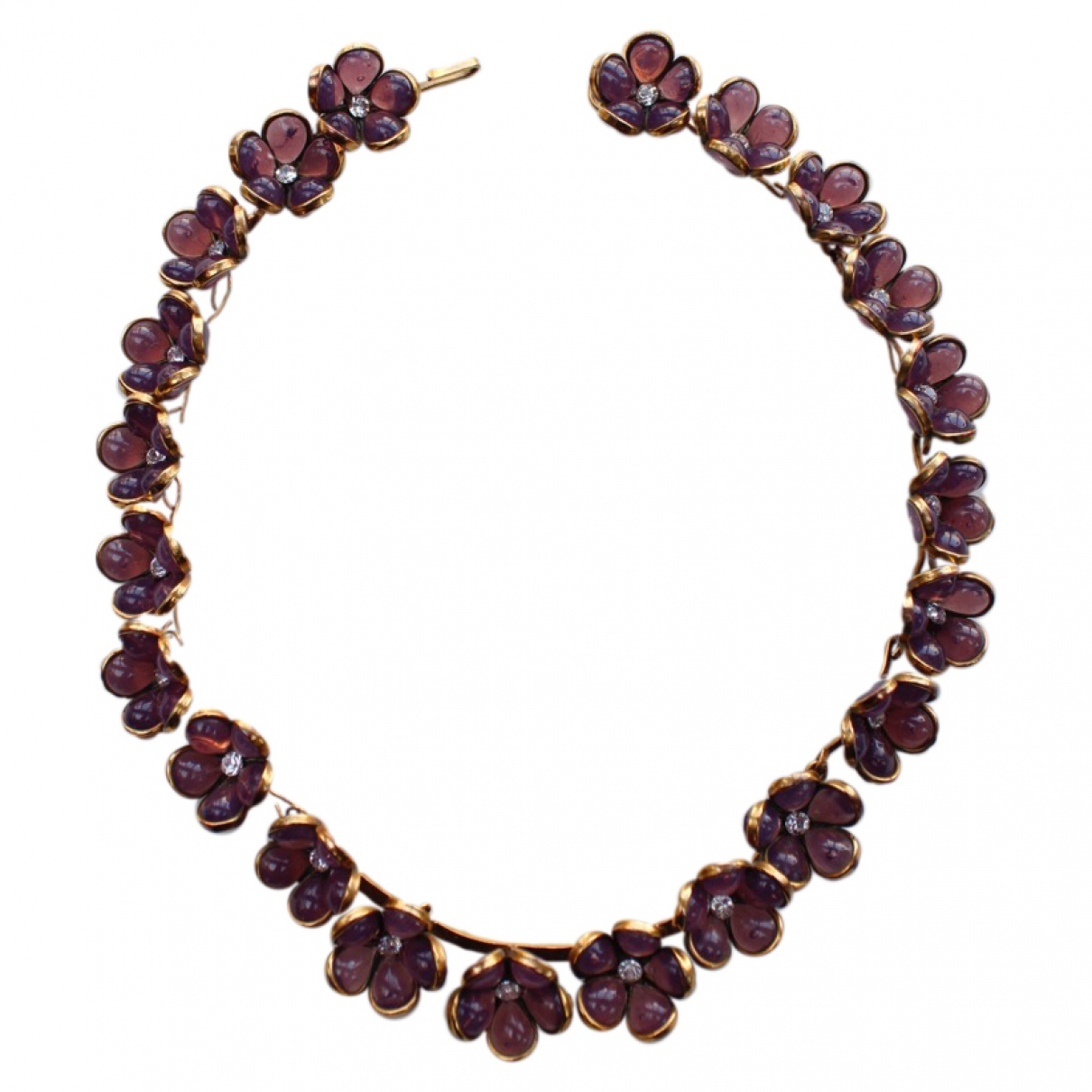Non Signé / Unsigned \N Purple Glass Jewellery set for Women \N