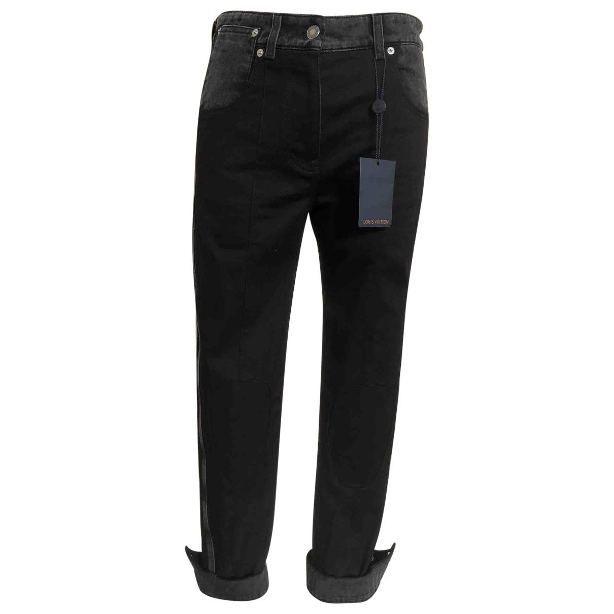 Louis Vuitton \N Black Cotton Jeans for Women 36 FR