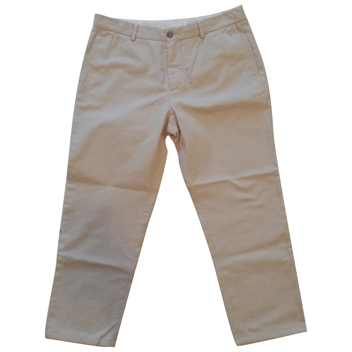 Maison Martin Margiela \N Beige Cotton Trousers for Men 50 IT