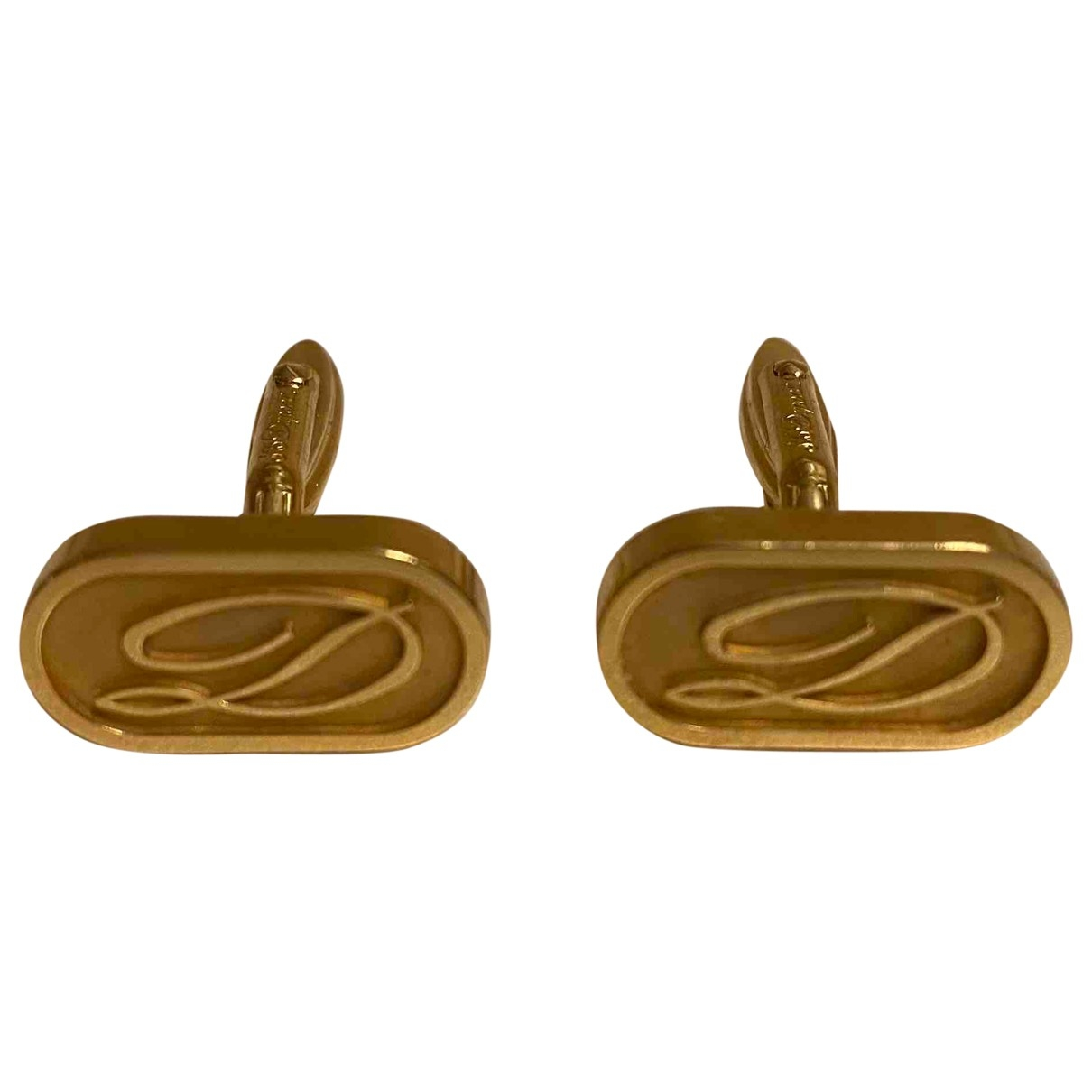 S.t. Dupont \N Gold Steel Cufflinks for Men \N