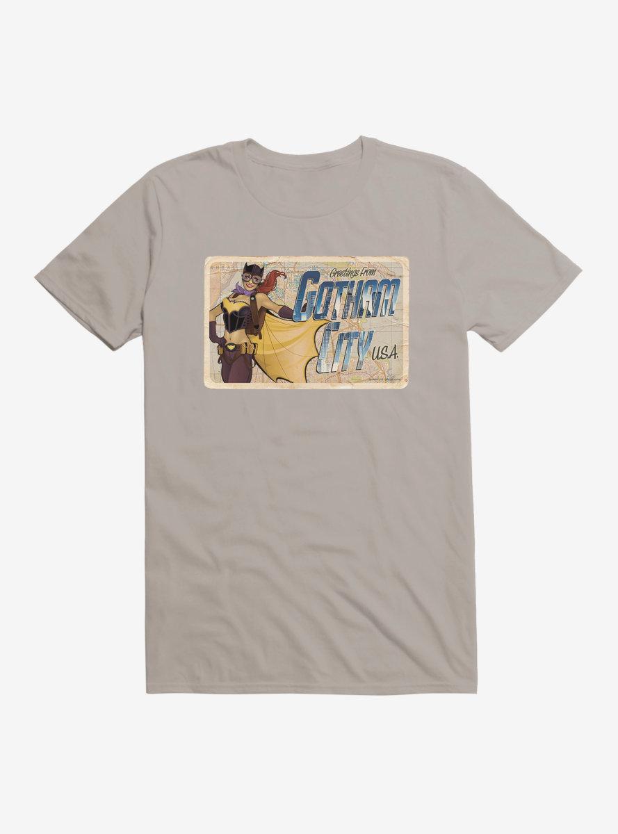 DC Comics Bombshells Batgirl Gotham City Postcard T-Shirt