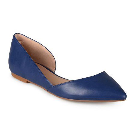 Journee Collection Womens Cortni D'Orsey Ballet Flats, 9 Wide, Blue