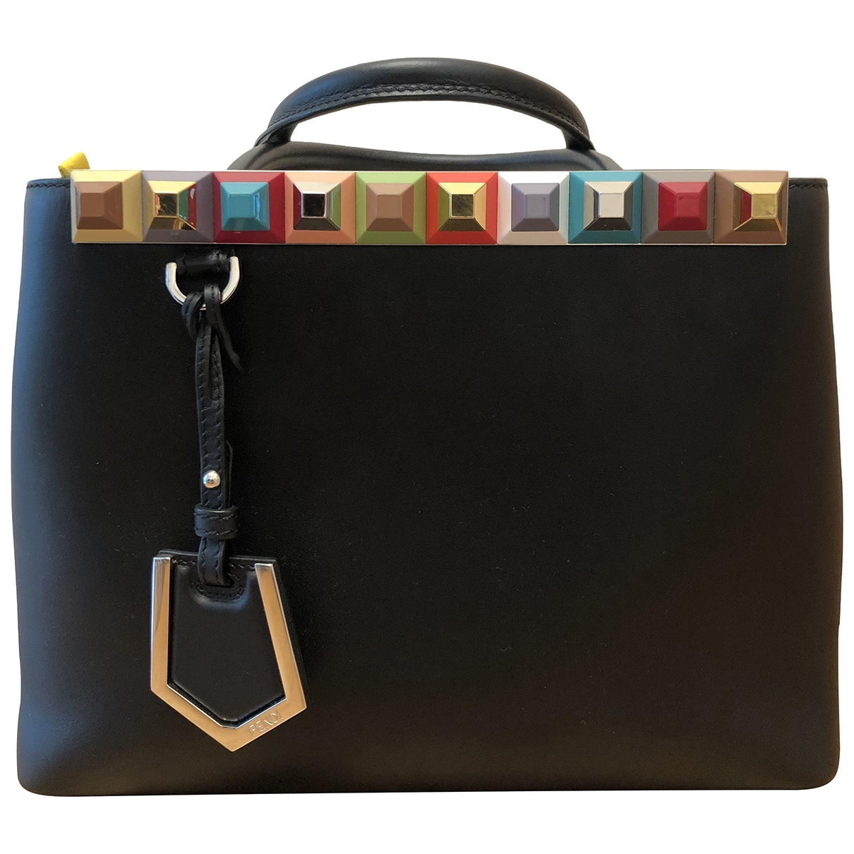 Fendi 2Jours Black Leather handbag for Women \N