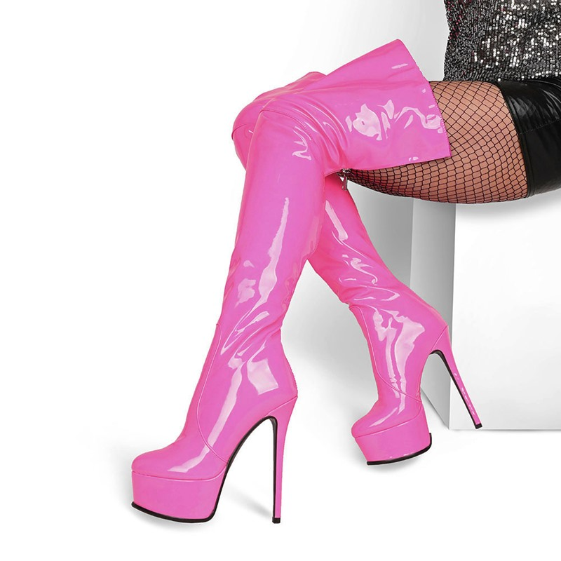 Ericdress Stiletto Heel Back Zip Plain Thread Boots
