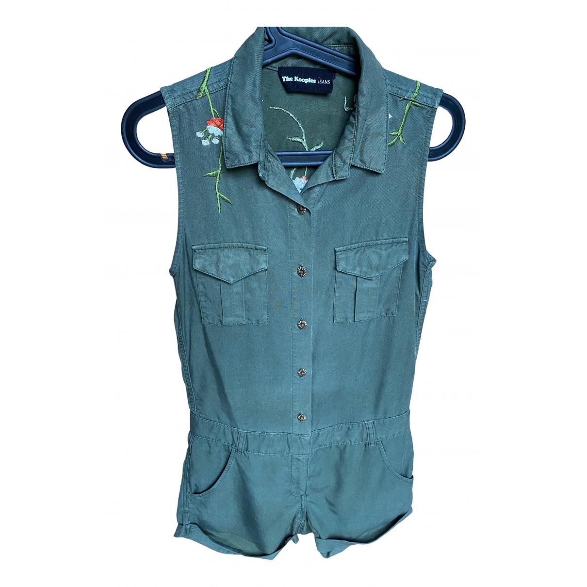 The Kooples \N Khaki Cotton jumpsuit for Women 34 FR