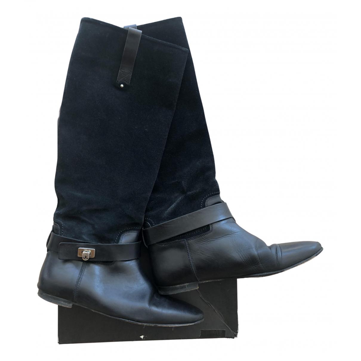Barbara Bui \N Black Leather Boots for Women 38 EU