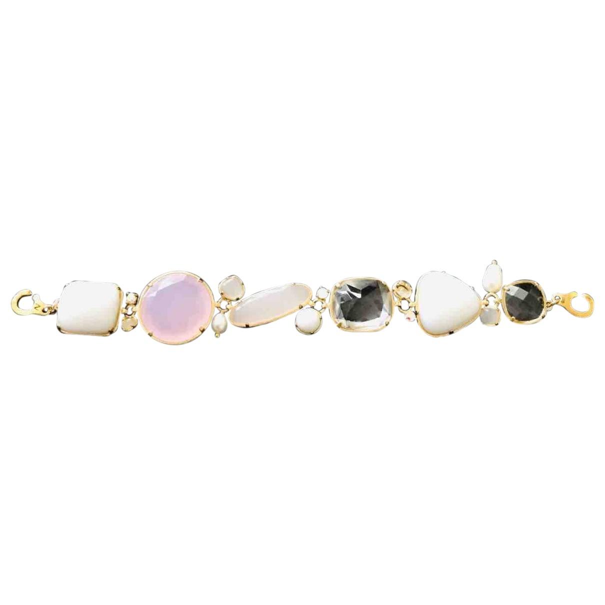Les Néréides \N Pink Glass bracelet for Women \N