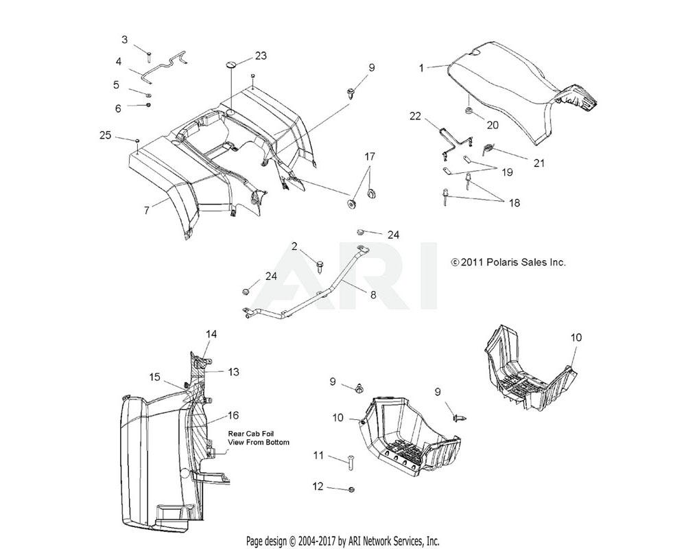 Polaris OEM 5250745 RETAINER, SEAT LATCH