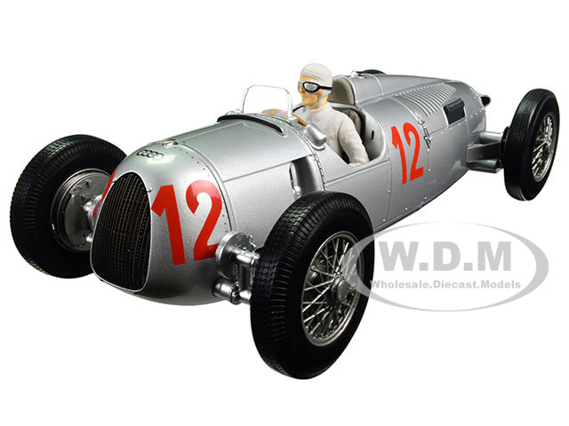 Auto Union Type C 1936 Budapest GP Hans Stuck 12 Limited Edition to 1002pcs with figure 1/18 Diecast Model Car by Minichamps