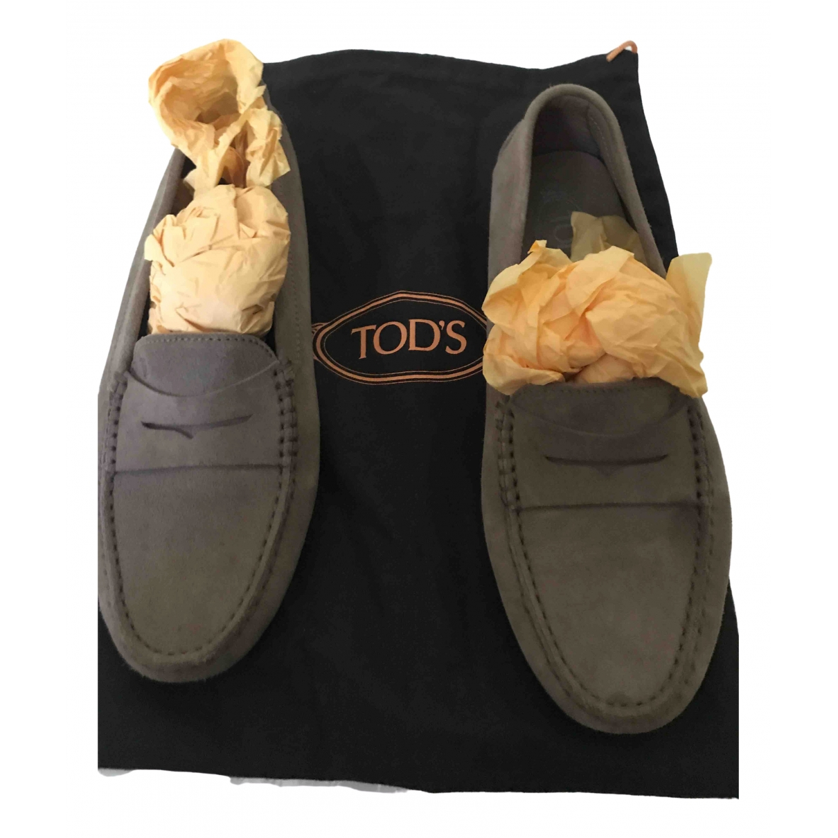 Tod's Gommino Brown Leather Flats for Women 40 EU