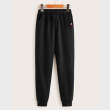Boys Contrast Striped Tape Sweatpants