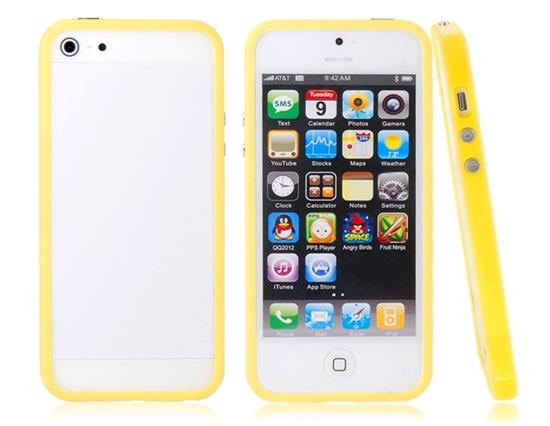 TPU Protective Frame for iPhone 5 - Yellow