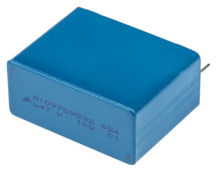 EPCOS 470nF Polypropylene Capacitor PP 1 kV dc, 250 V ac ±10% Tolerance Through Hole B32654 Series