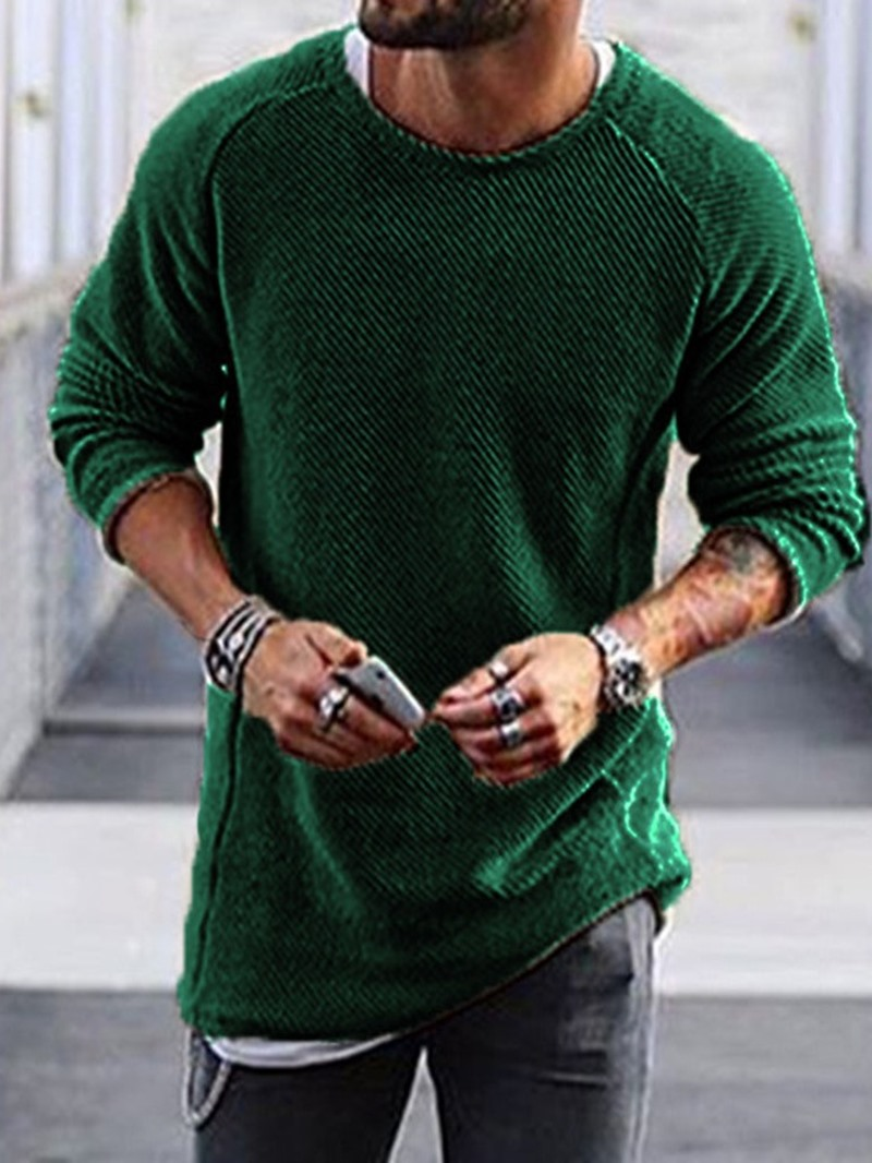 Ericdress Plain Mid-Length Round Neck European Loose Sweater