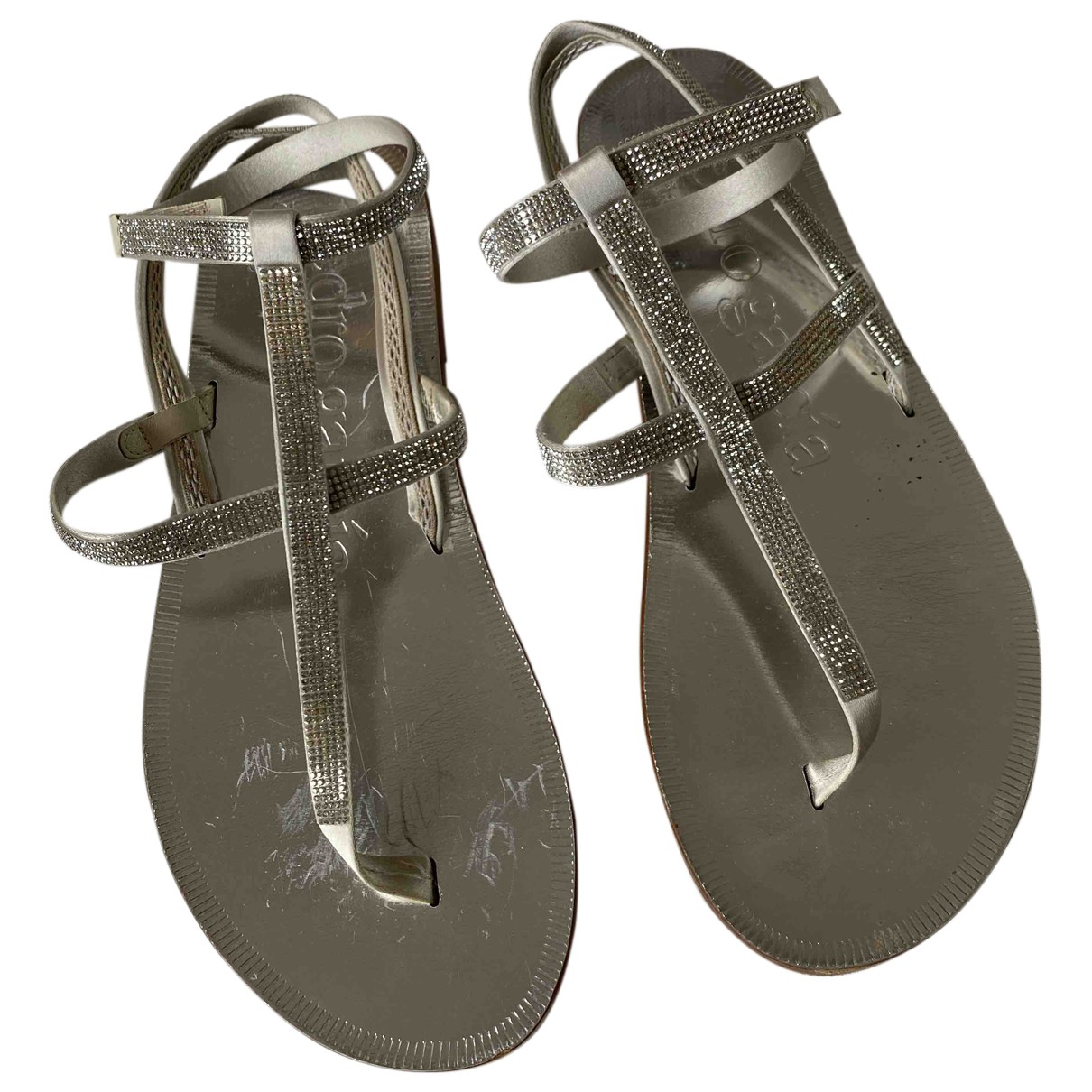 Pedro Garcia \N Silver Leather Sandals for Women 36.5 IT