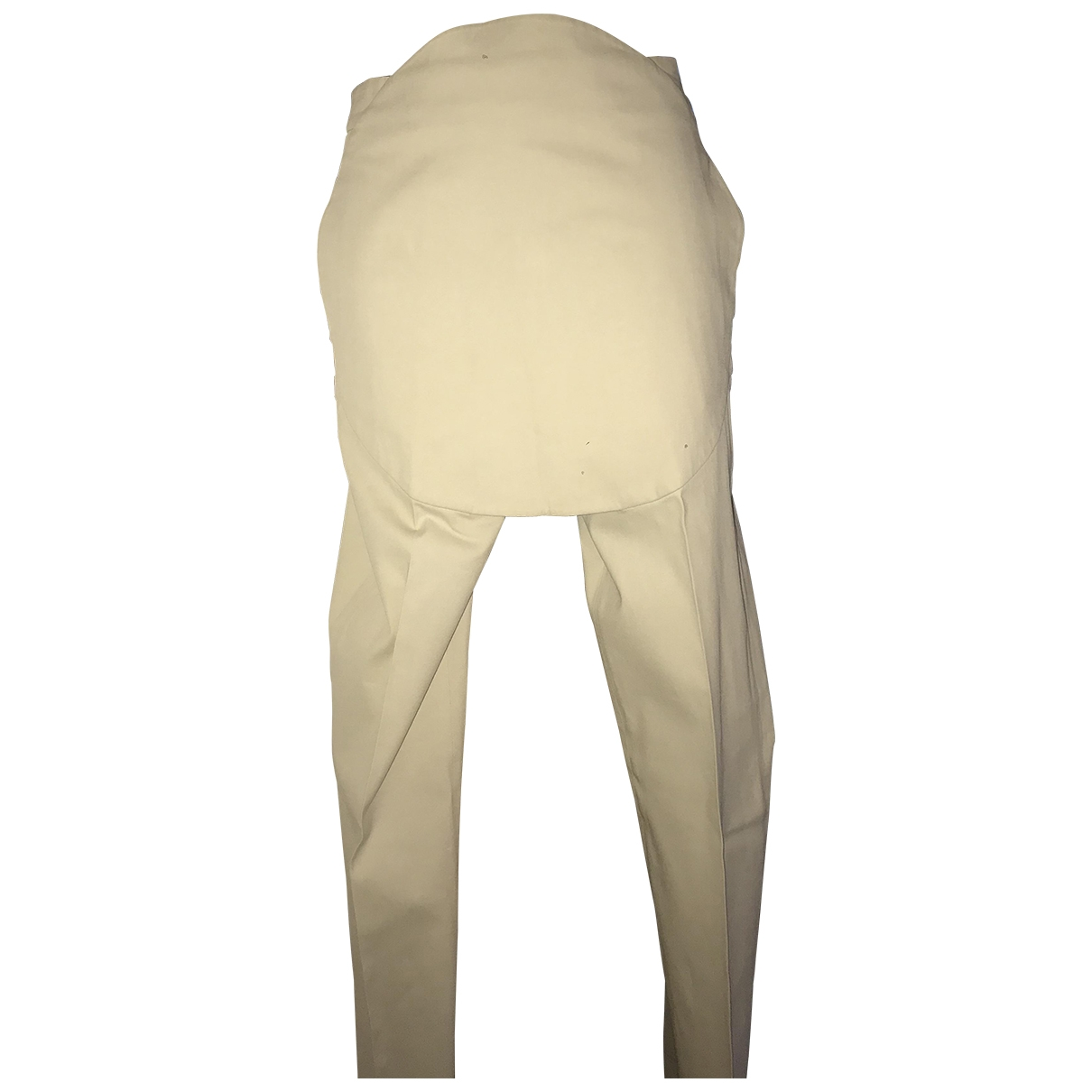 Maison Martin Margiela \N Beige Cotton Trousers for Women 38 IT