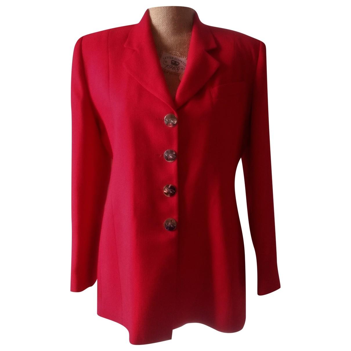 Oscar De La Renta \N Red Cotton jacket for Women M International
