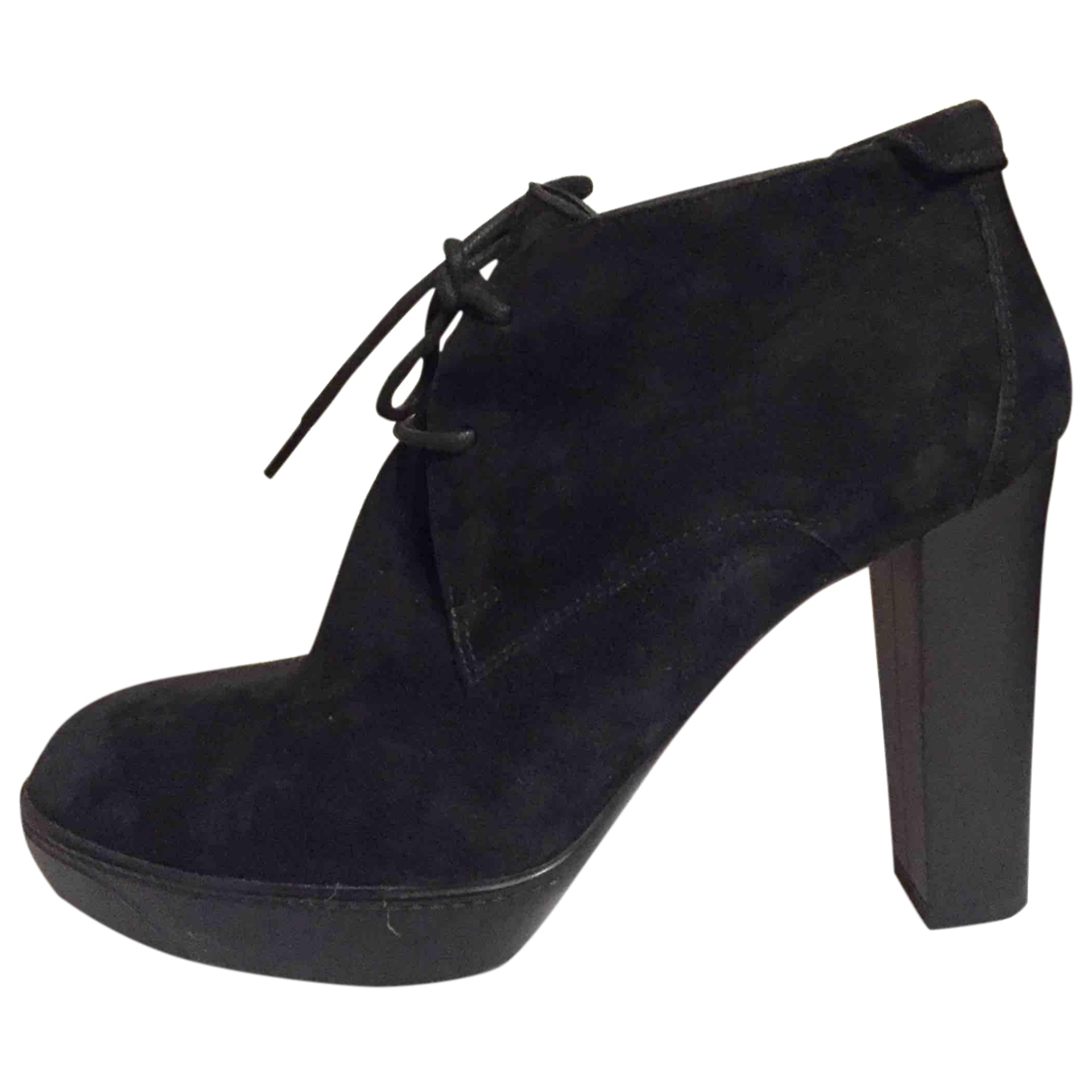 Hogan \N Black Suede Ankle boots for Women 38 EU