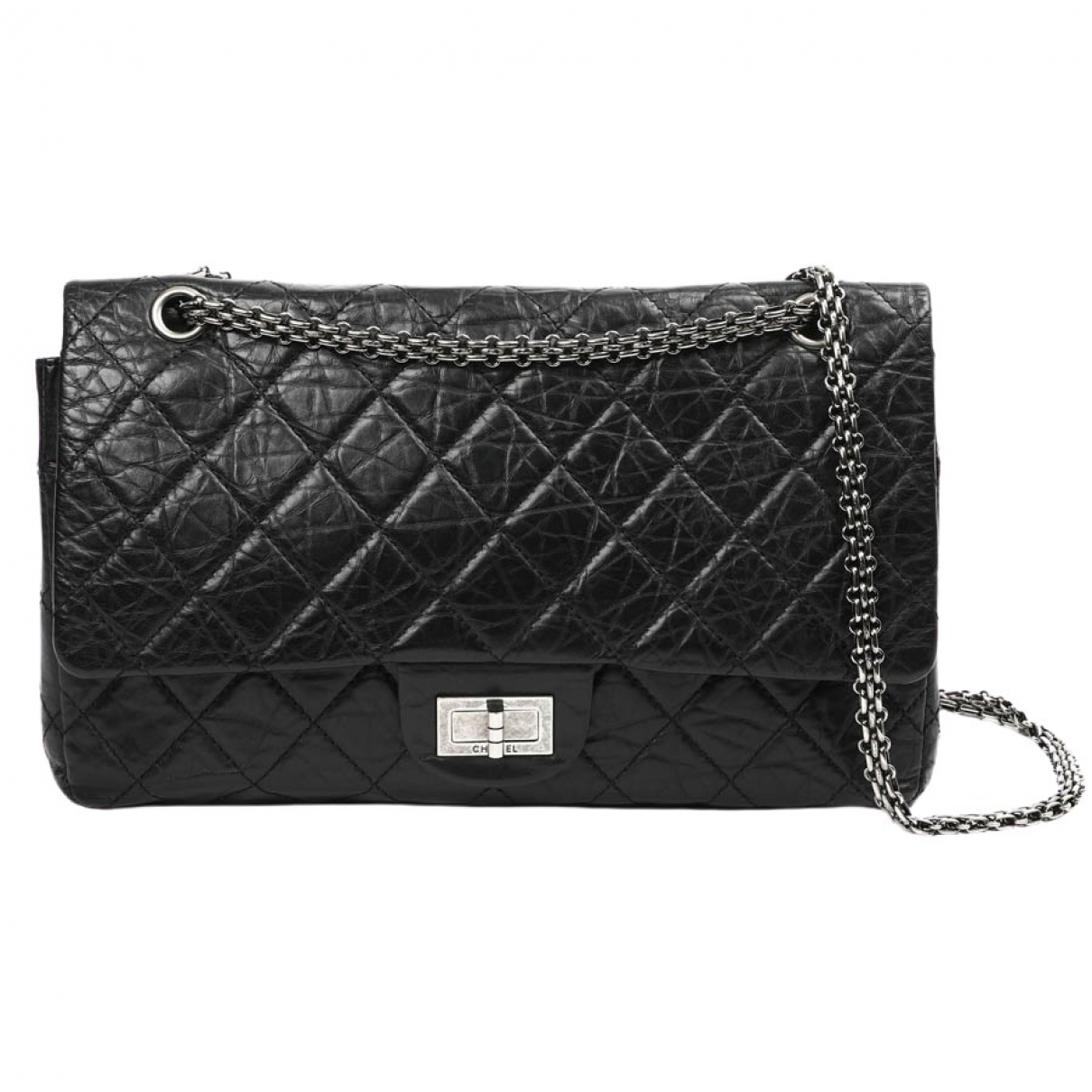 Chanel 2.55 Black Leather handbag for Women \N