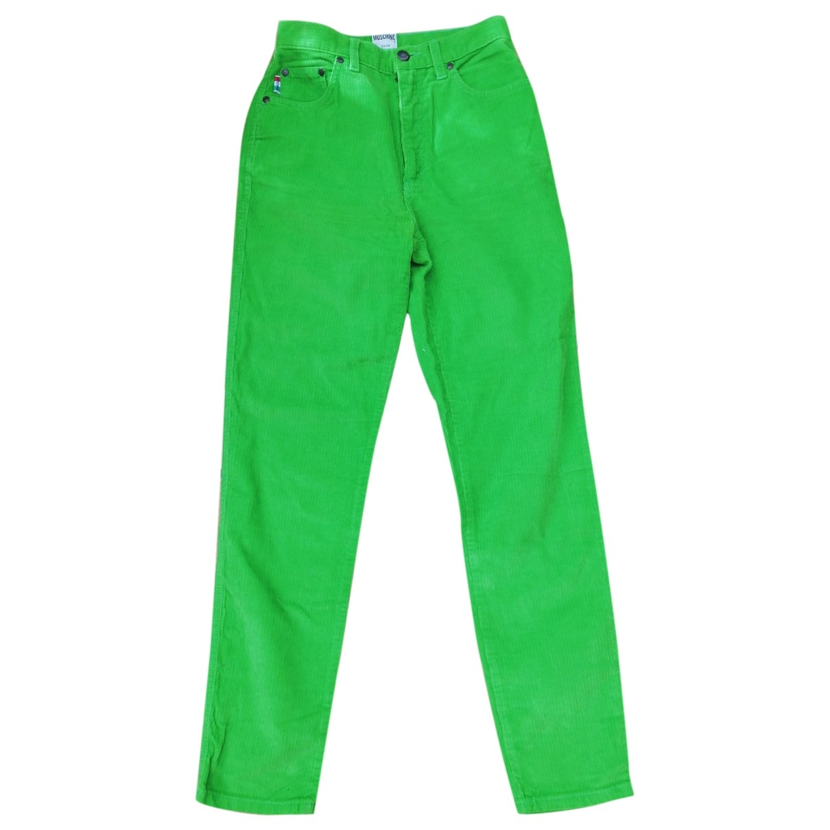 Moschino Cheap And Chic \N Green Velvet Trousers for Women 36 FR