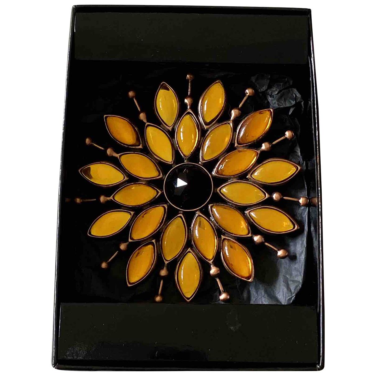 Yves Saint Laurent \N Orange Metal Pins & brooches for Women \N