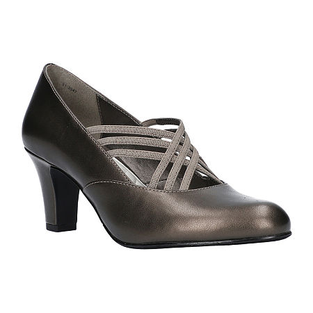 Easy Street Womens Rumer Pumps Spike Heel, 8 1/2 Wide, Gray