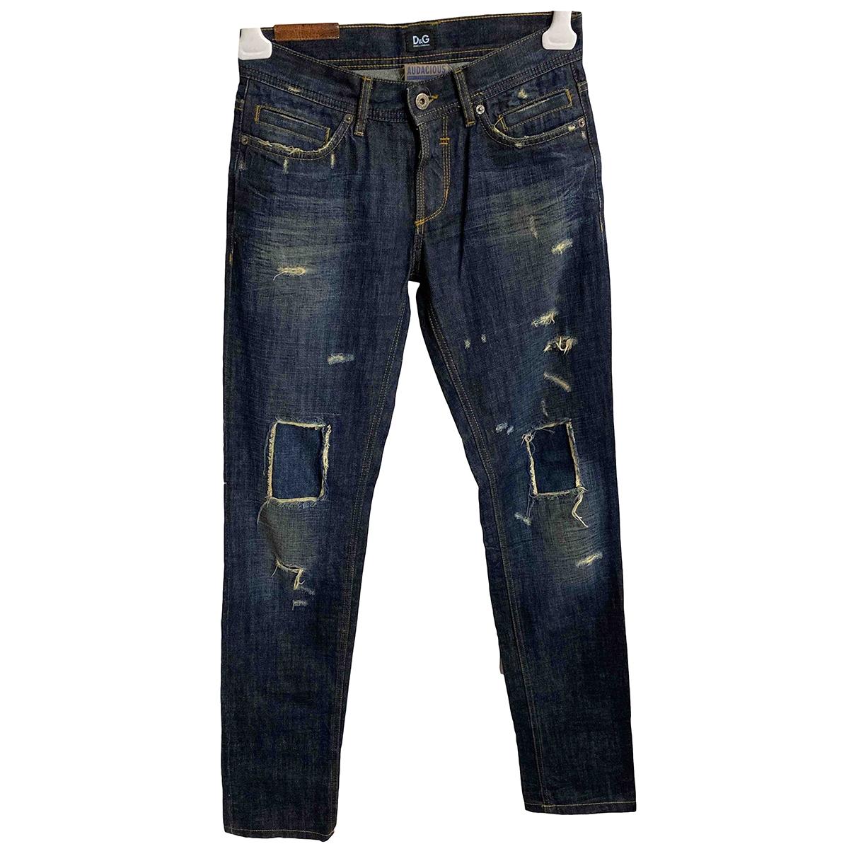 D&g \N Blue Cotton Jeans for Women 29 US