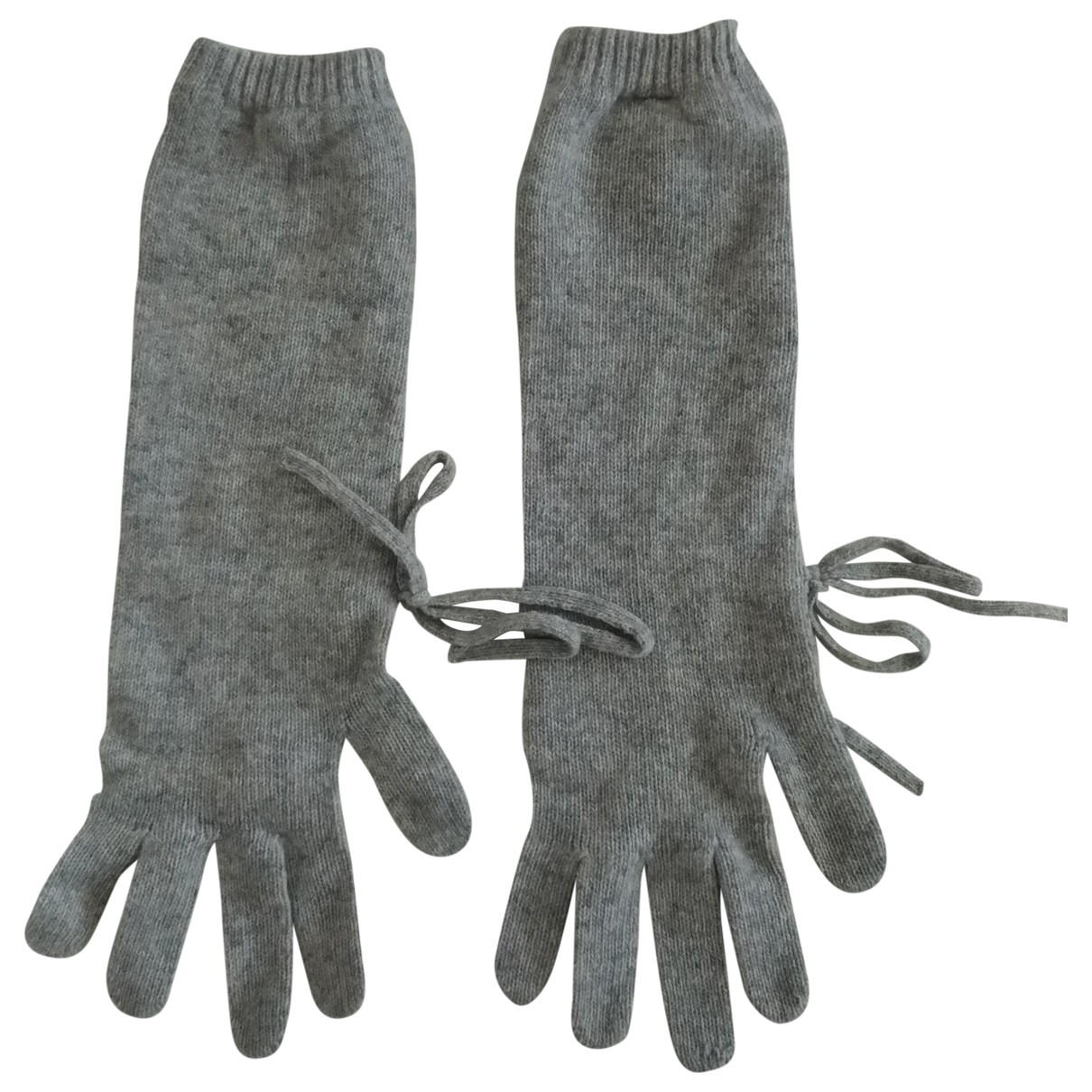 Non Signé / Unsigned \N Grey Wool Gloves for Women S International