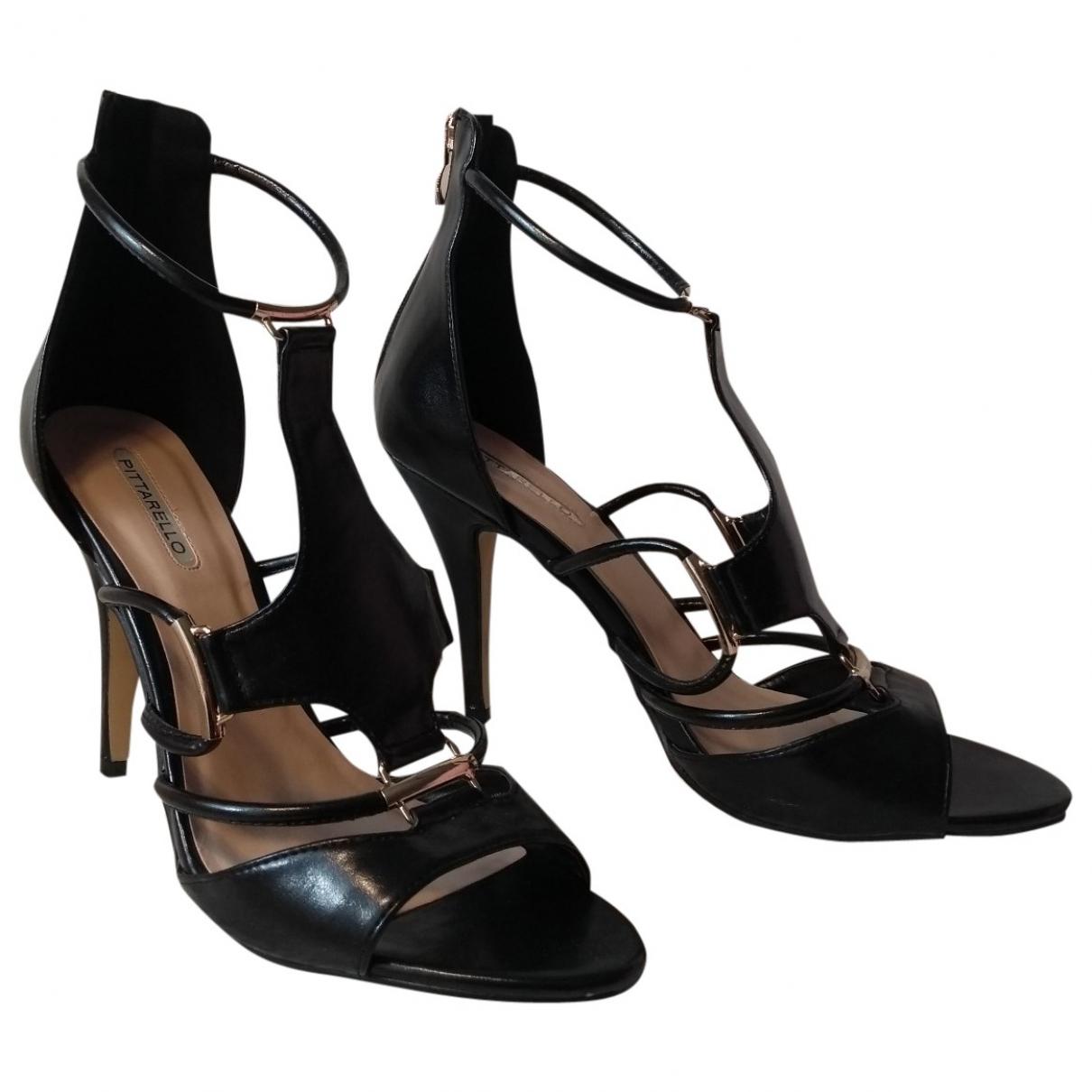 Non Signé / Unsigned \N Black Sandals for Women 41 EU