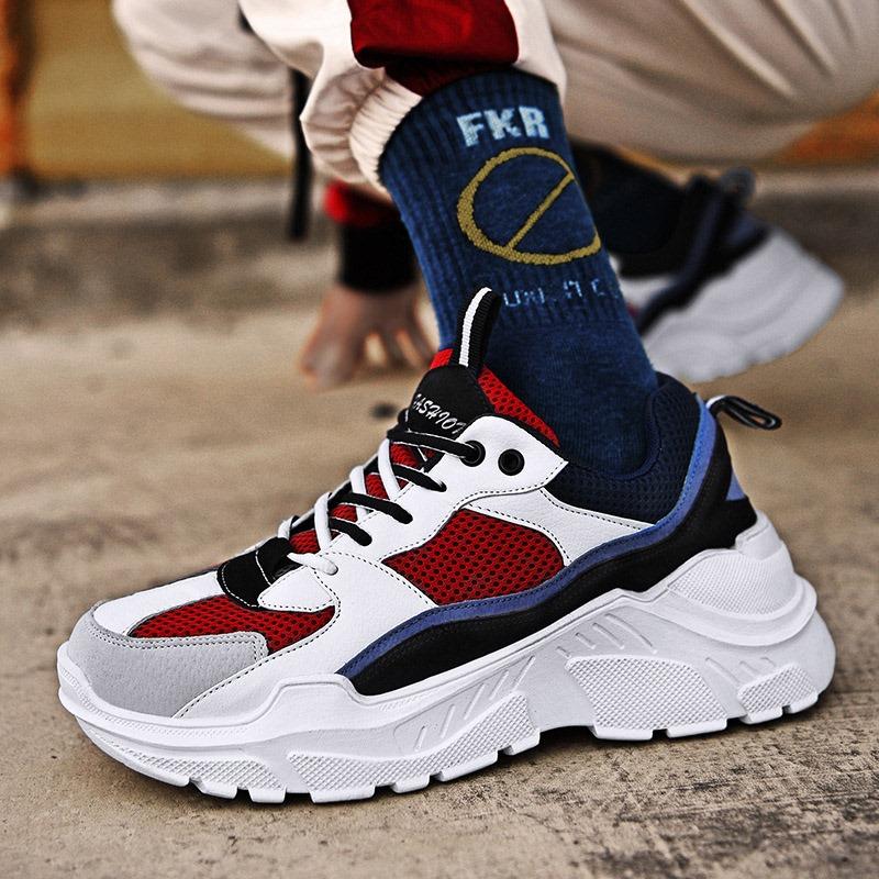 Ericdress Mesh Color Block Round Toe Men's Sneakers