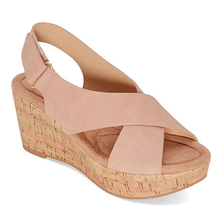 CL by Laundry Womens Darlin Wedge Sandals, 7 Medium, Pink