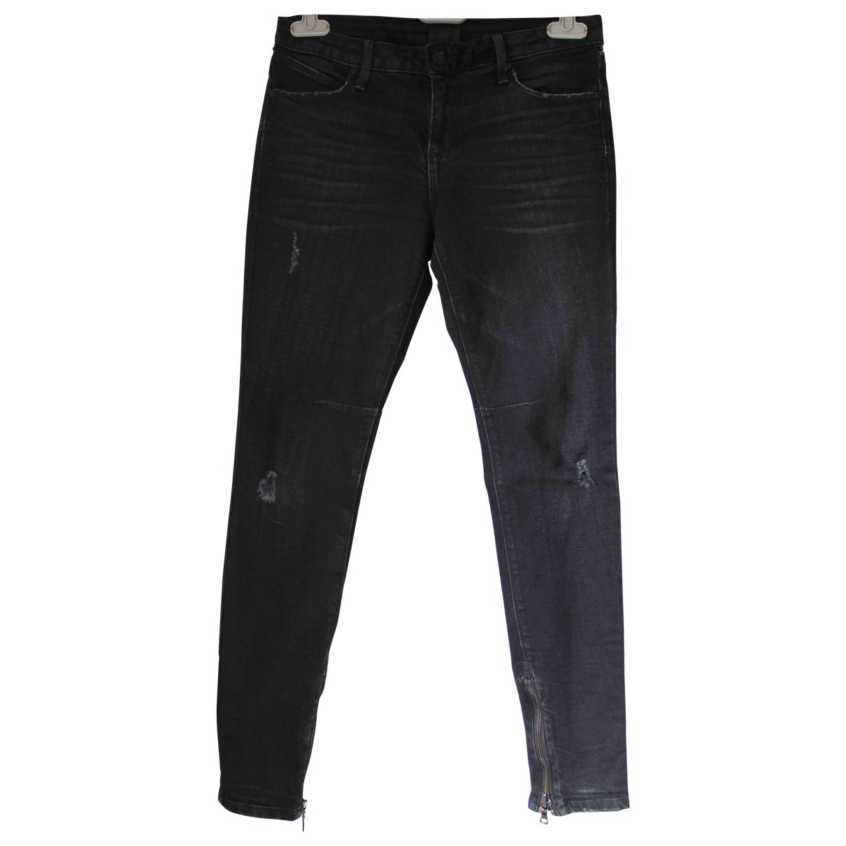 Rta \N Grey Cotton - elasthane Jeans for Women 27 US