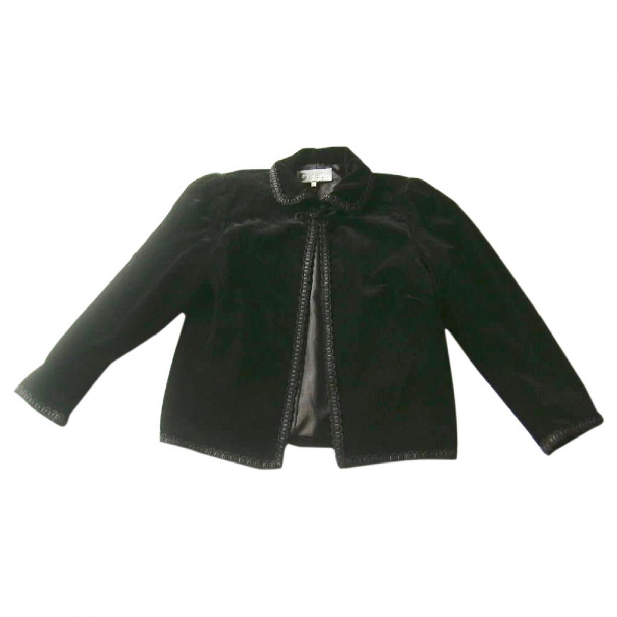 Non Signé / Unsigned \N Black Velvet jacket for Women M International
